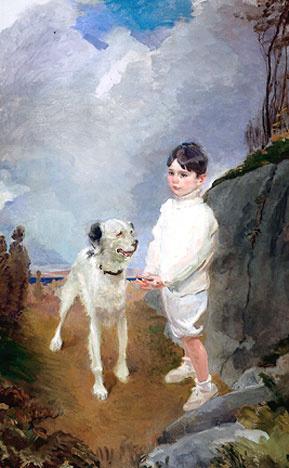 Сесилия Бо. Мальчик с собакой