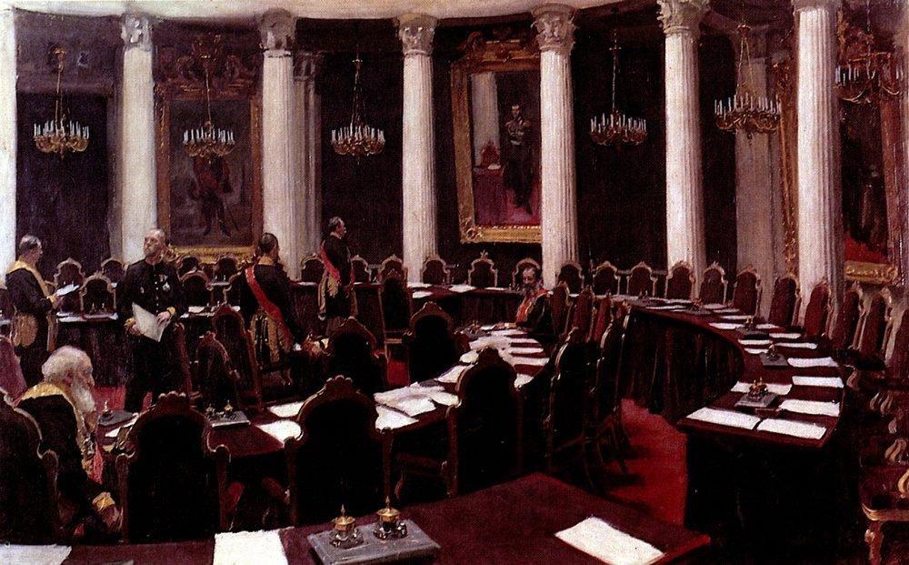 Илья Ефимович Репин. В зале Государственного совета. Эскиз