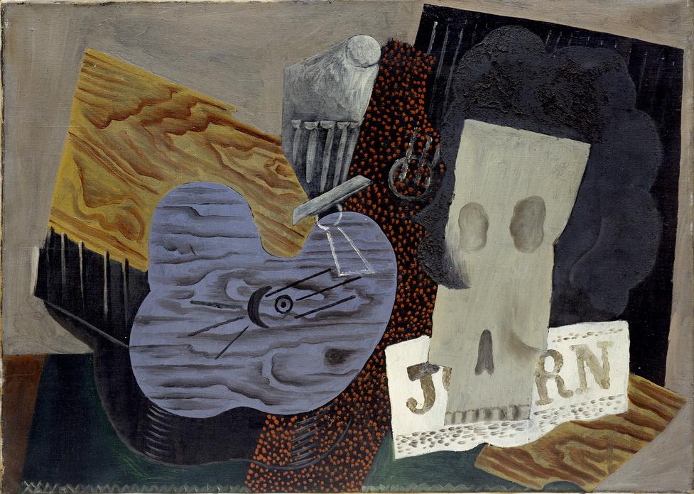 Пабло Пикассо. Гитара, череп и газета