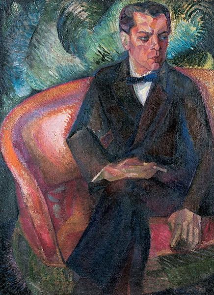 Давид Давидович Бурлюк. Портрет артиста Тягунова. 1910-е.