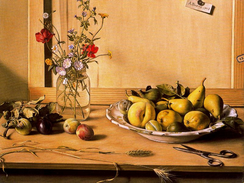 Антонио Буэно. Натюрморт с грушами