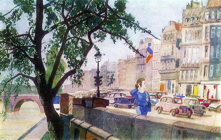 Александр Александрович Дейнека. Весна в Париже