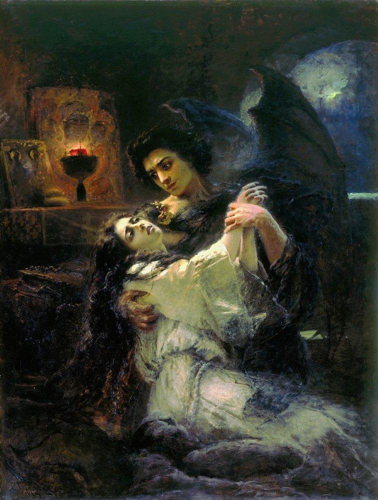 Konstanton Makovsky. Tamara and the Demon