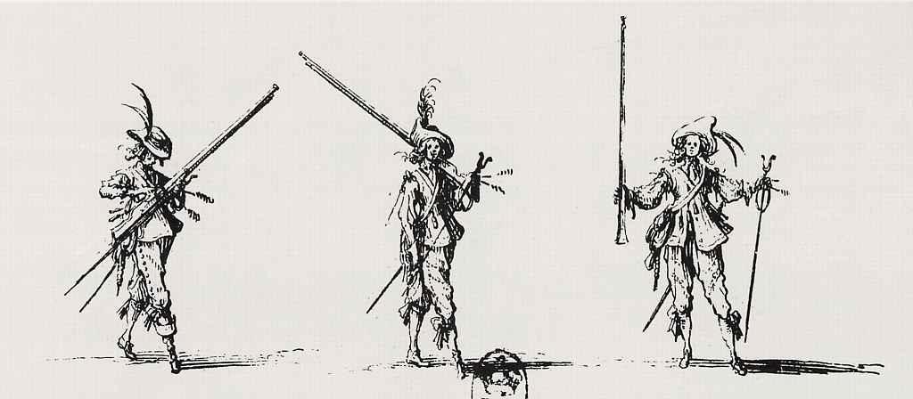 Жак Калло. Упражнения с мушкетом