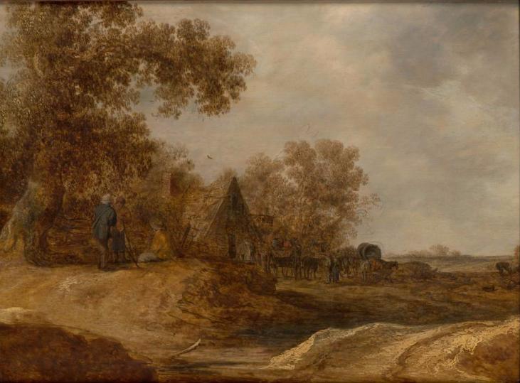 Jan van Goyen. Landscape with tavern