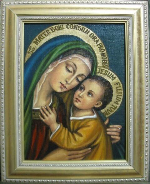Jadwiga Senko. B. M. Good happy icon katolicheskaja (oil on canvas)