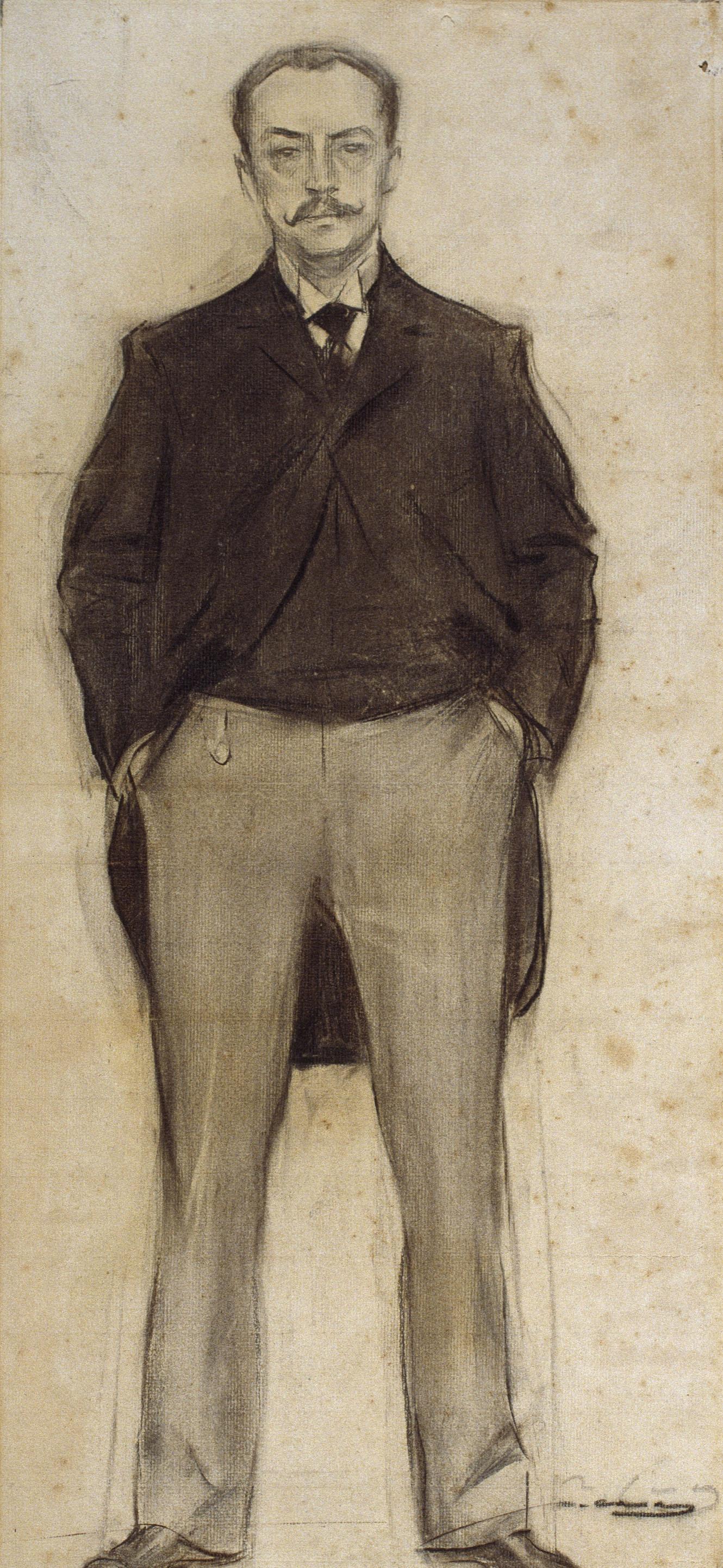 Ramon Casas i Carbó. Portrait of Ramón Domínez Perez