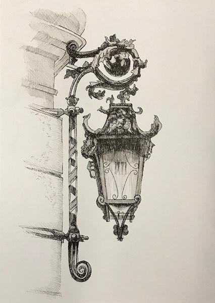 Larissa Lukaneva. Lamp. Sketch.