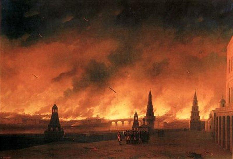 Иван Константинович Айвазовский. Пожар Москвы 1812 года