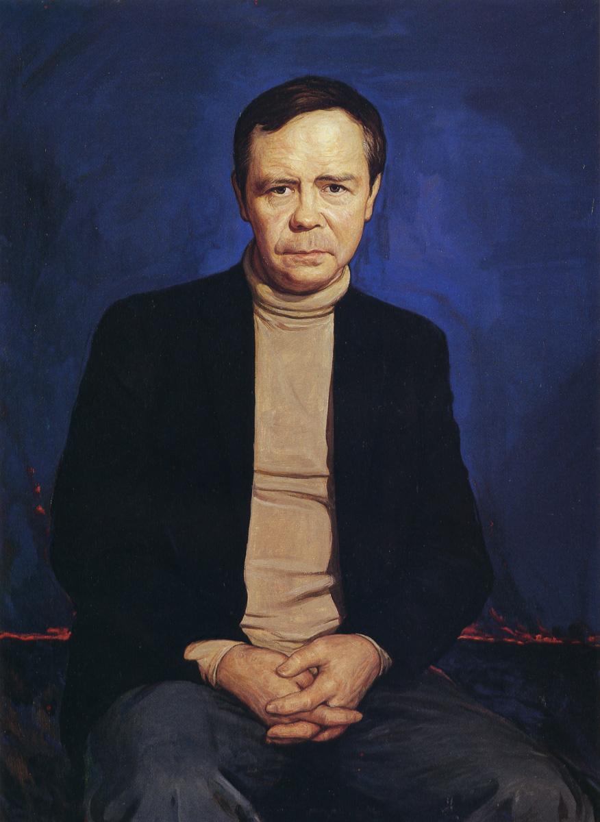 Ilya Sergeevich Glazunov. Portrait of the writer Valentin Rasputin.1987