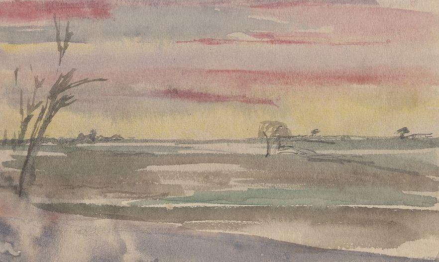 Ivan Ivanovich Zakharov. Twilight sunset