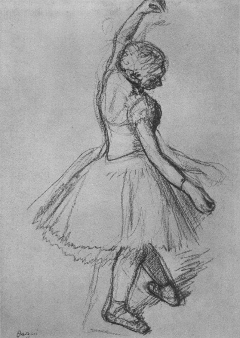Edgar Degas. Dancer with raised hand
