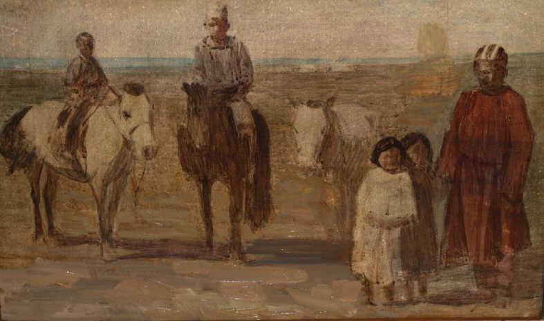 "Arkady Petrovich Stroganov. ""Children with Horses"""