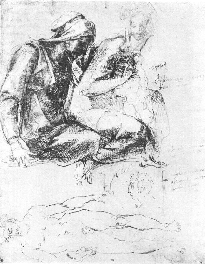 Микеланджело Буонарроти. Мадонна с младенцем и Святой Иоанн