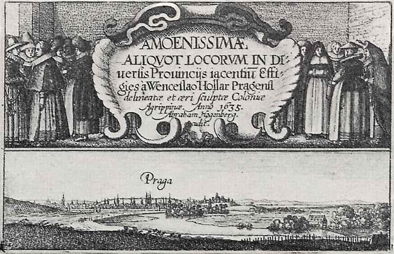 Венцель Холлар. Фронтиспис с видом на Прагу