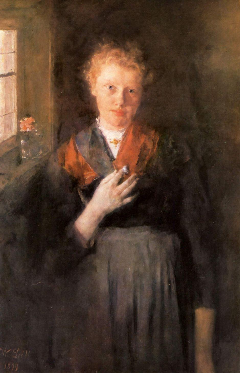 Wilhelm Maria Hubertus Leibl. The girl at the window: Babette Jordan