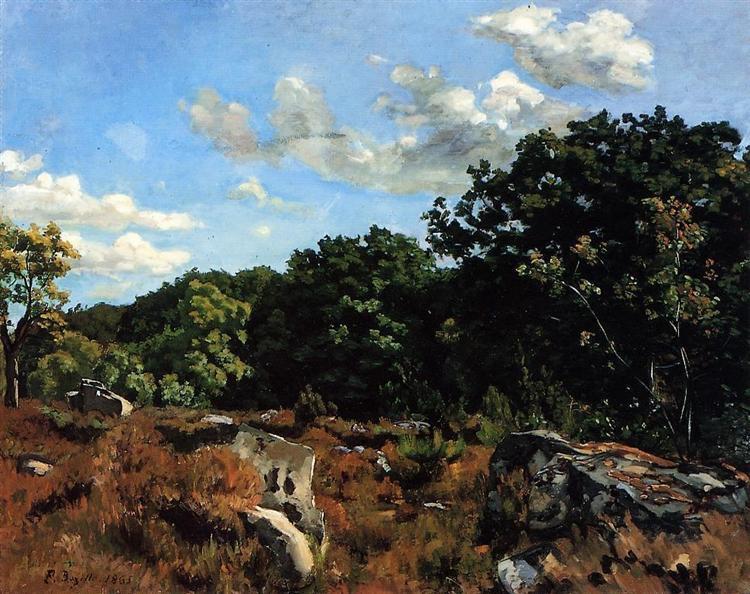 Фредерик Базиль. Пейзаж в Шайи