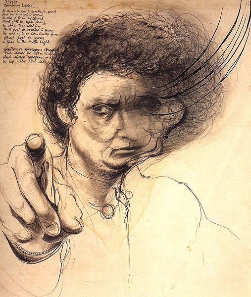Brett whiteley. Remembering Lao Tse (Shaving off a Second)