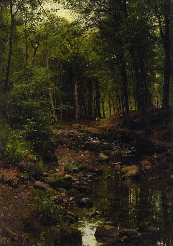 Peder Mørk Mønsted. Forest landscape