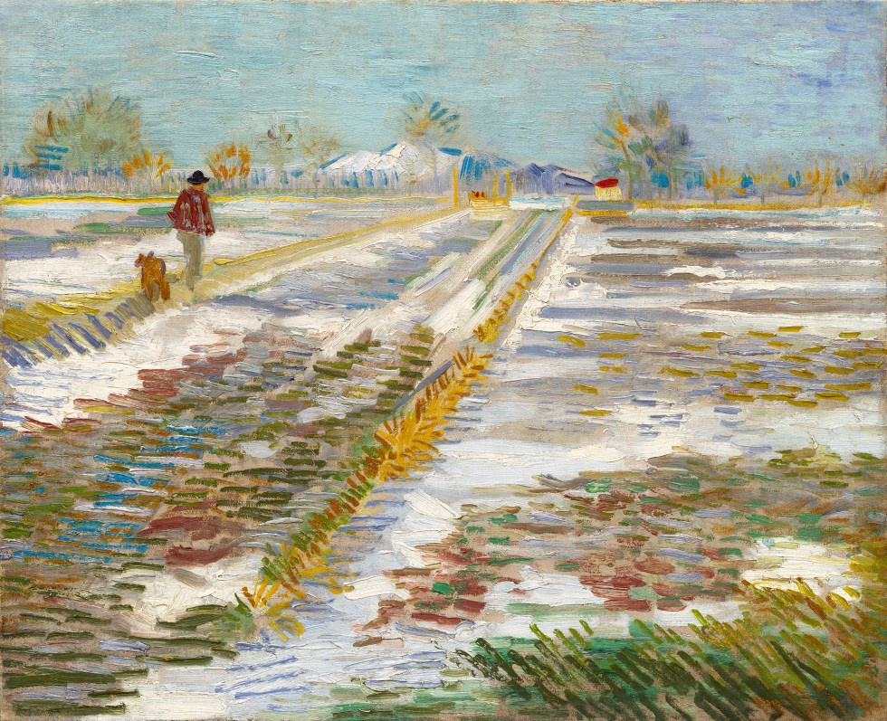 Vincent van Gogh. Landscape with snow