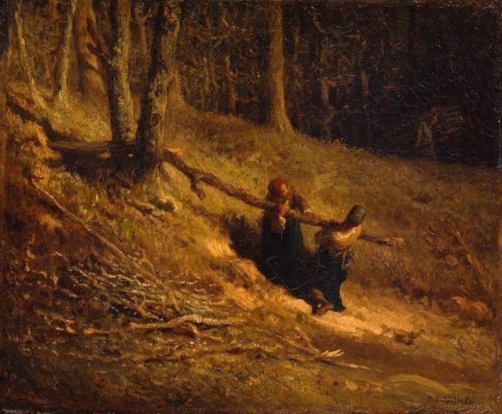 Jean-François Millet. The Brushwood Collectors