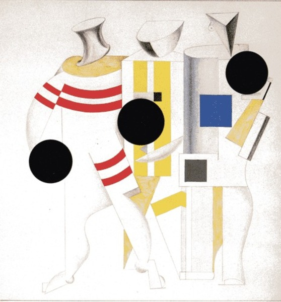 """El Lissitzky. Athletes. Sketch for the Opera """"victory over the sun"""""""