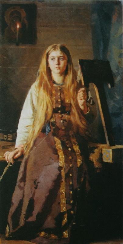 Nikolai Vasilyevich Nevrev. Spinner. 1889
