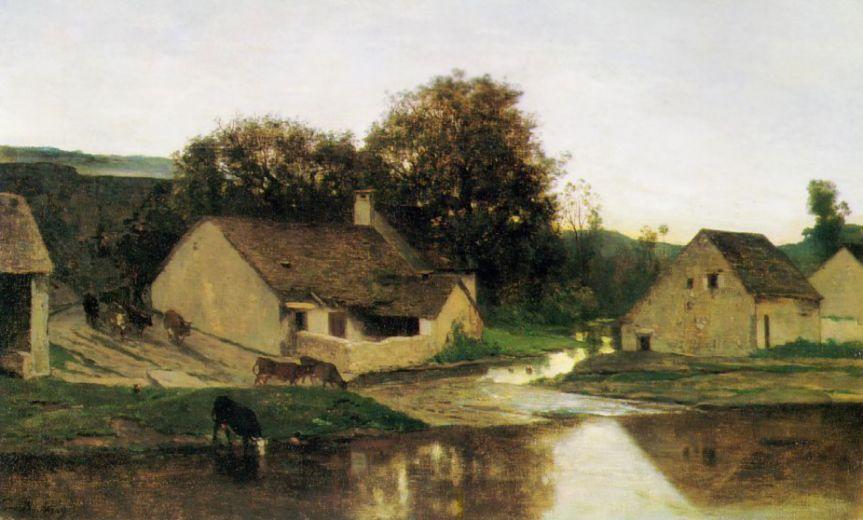 Шарль-Франсуа Добиньи. Плотина в Оптевозе