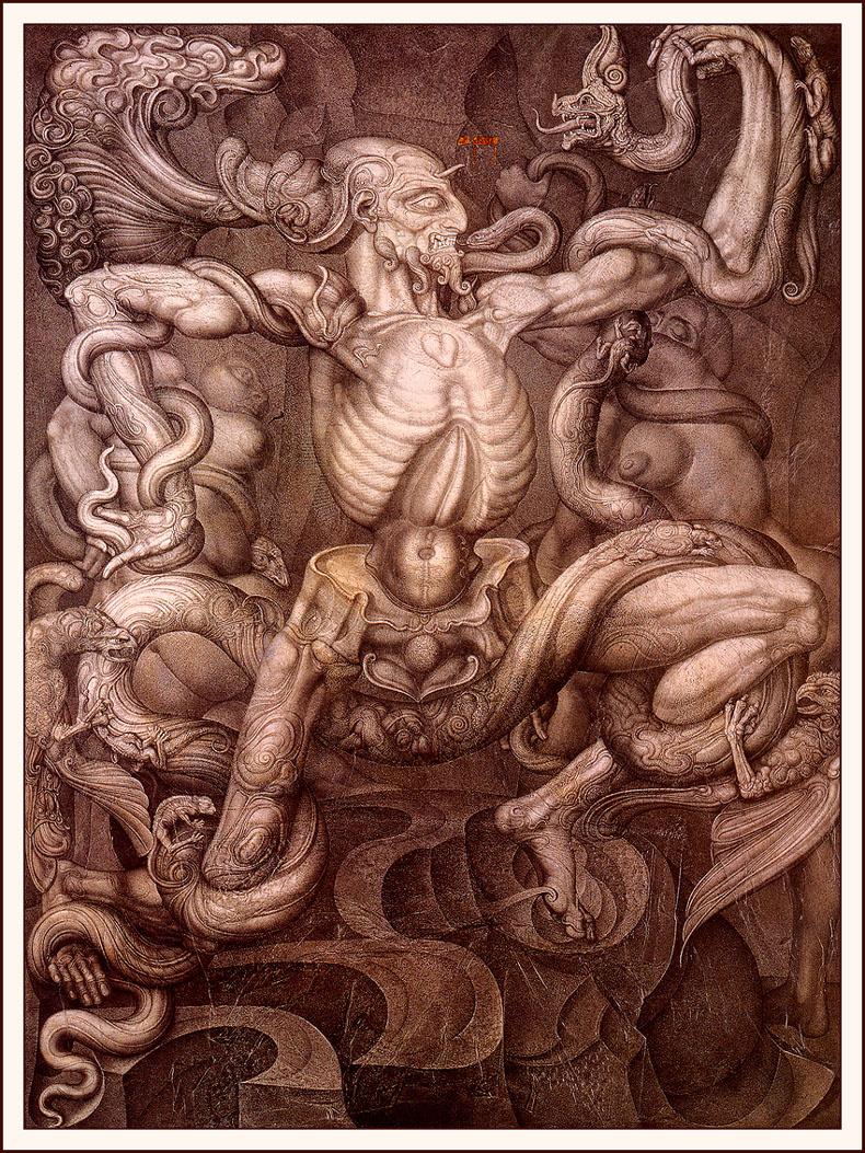 Ernst Fuchs. The Anti-Laocoon
