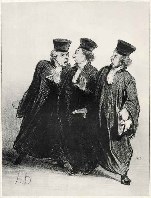 Honore Daumier. Colleagues, what to argue beyond the walls of the courtroom