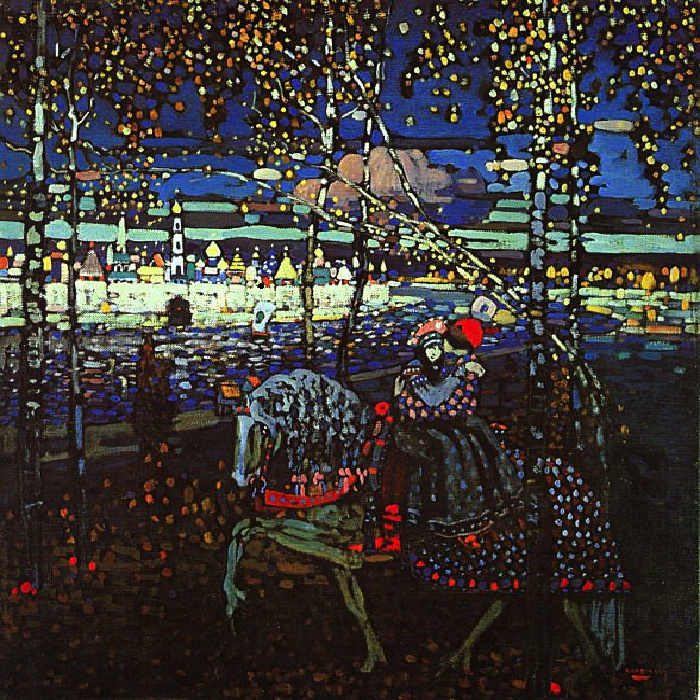 Two on a horse by Wassily Kandinsky