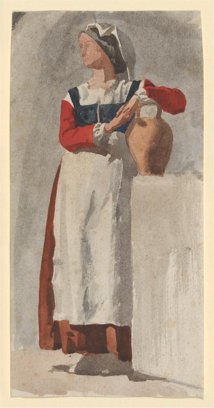 Edgar Degas. Italian woman