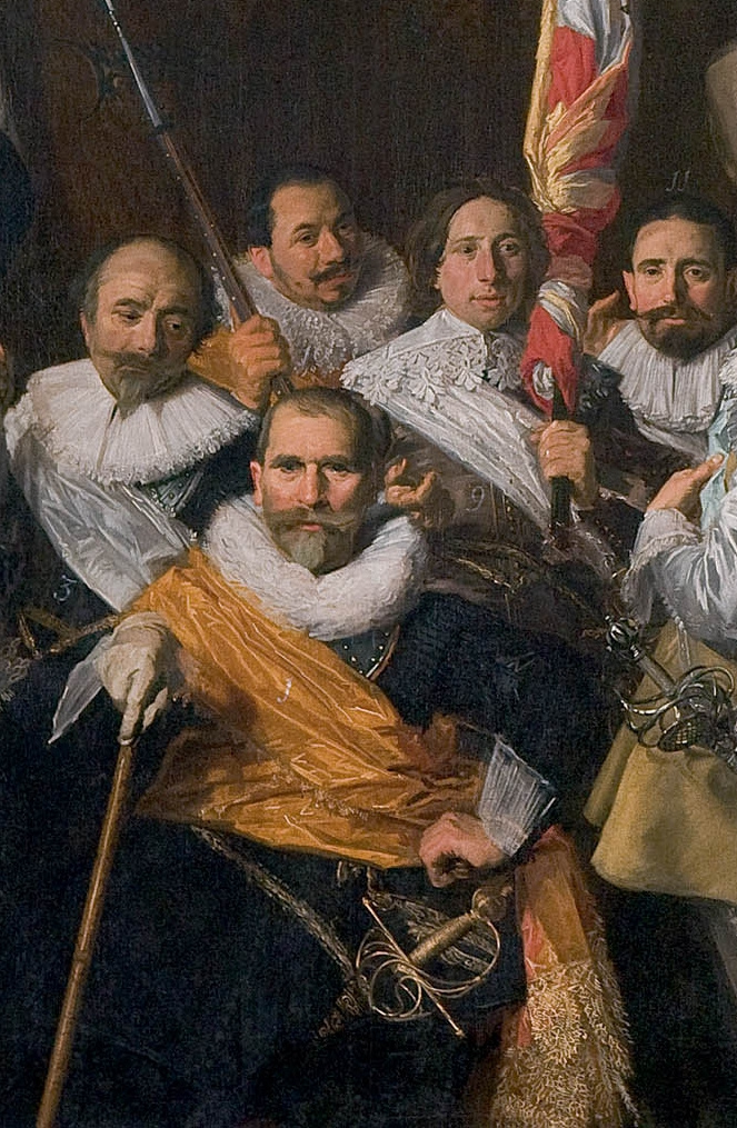 Frans Hals. Group portrait of officers and sergeants rifle company of St.. Adriana Fragment 1