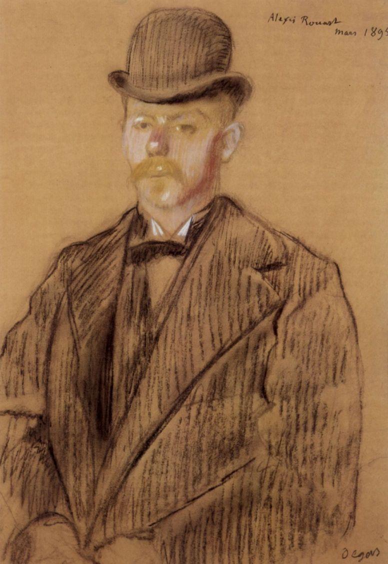 Edgar Degas. Portrait Of Alexis Roar