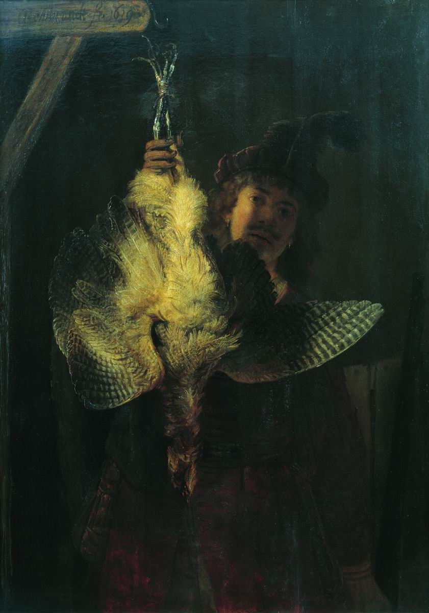 Rembrandt Harmenszoon van Rijn. Self-portrait with a dead drink