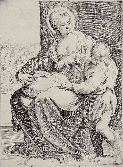 Аннибале Карраччи. Мадонна с подушкой