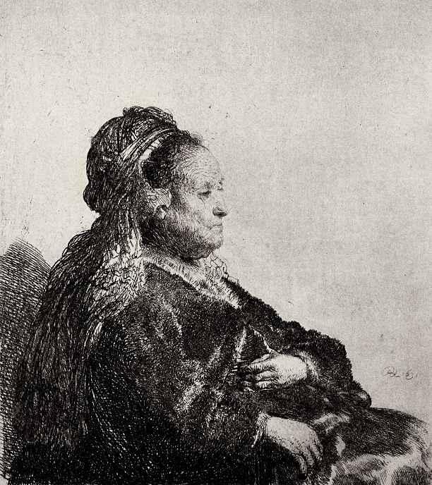 Рембрандт Ван Рейн. Портрет матери в восточном головном уборе