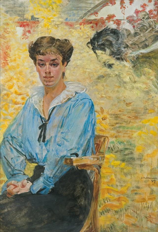 Яцек Мальчевский. Девушка в голубой блузке