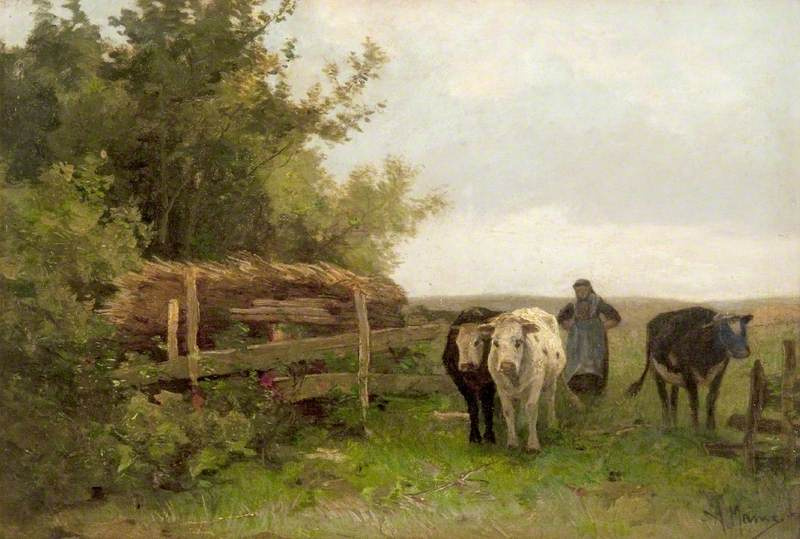 Anton Maouve. The woman leading the cows