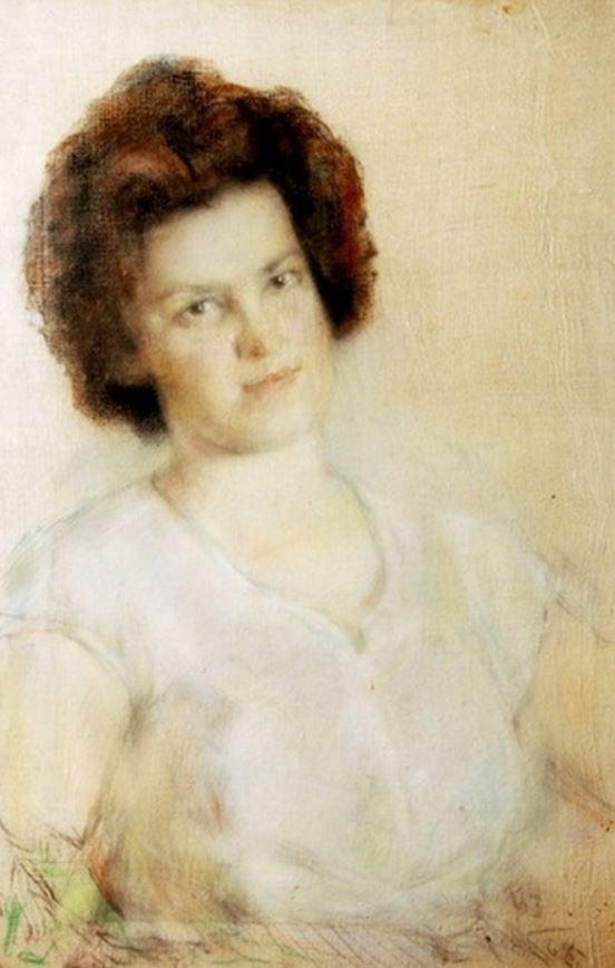 Ivan Ivanovich Zakharov. Female portrait. Irena.