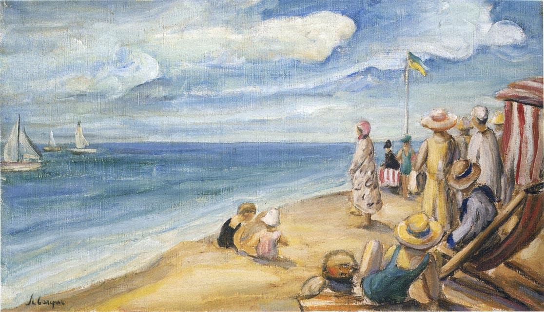 Анри Лебаск. На пляже 02