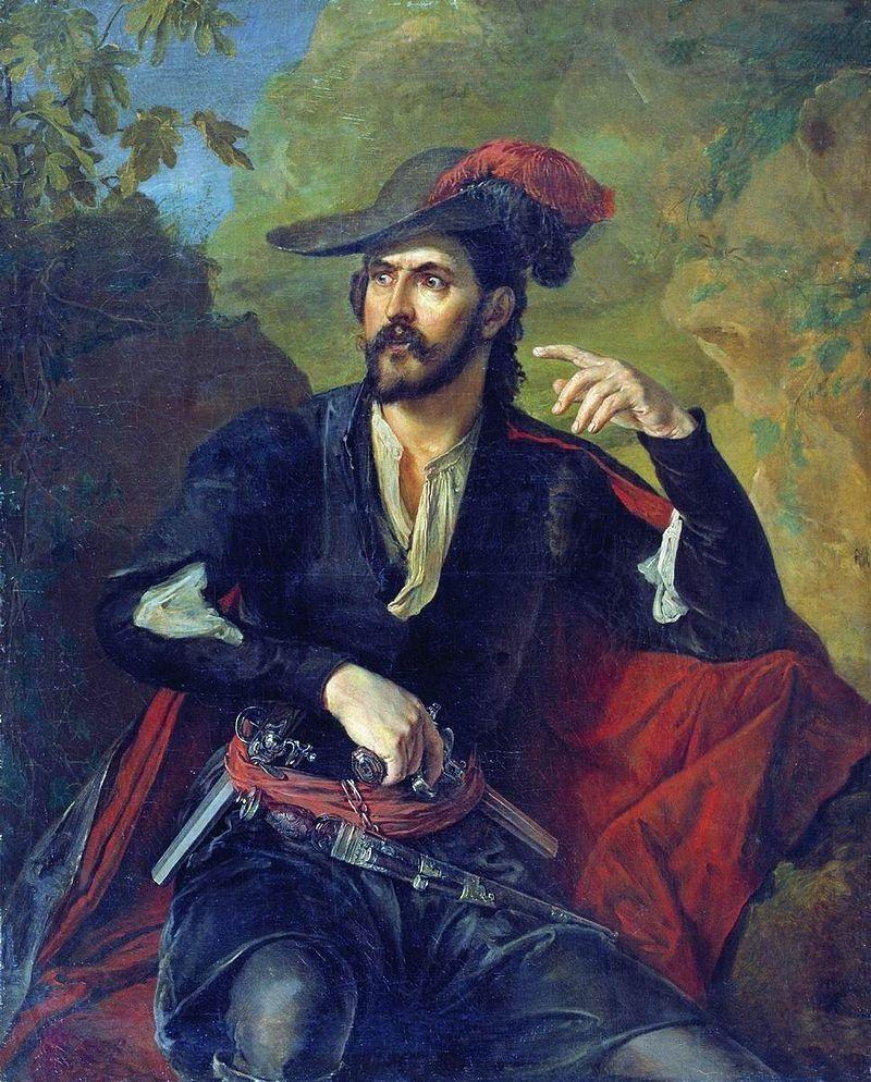 Василий Андреевич Тропинин. Разбойник (Портрет князя Оболенского)
