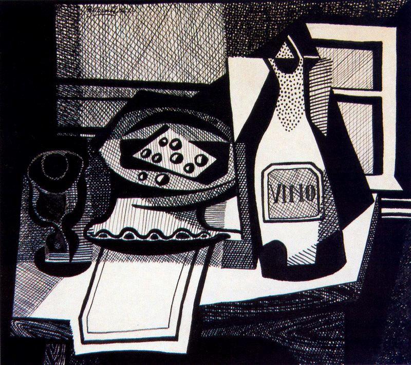 Emilio Petturtti. Still life with wine