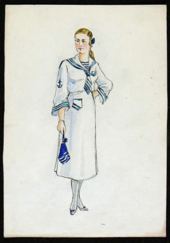 """Vladimir Vasilyevich Popov. Costume design mademoiselle Butkevich. """"Unforgettable 1919"""""""