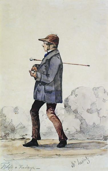 Алексей Петрович Боголюбов. Карикатура