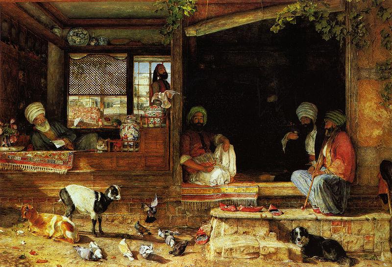 John Frederick Lewis. The seller of kebab