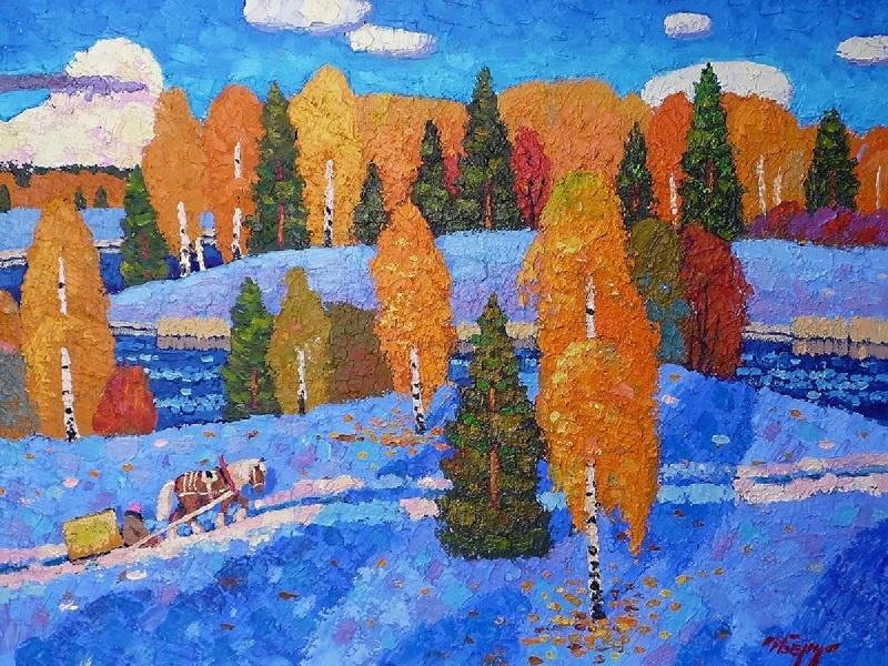 Igor Zagrievich Berdyshev. On the first snow