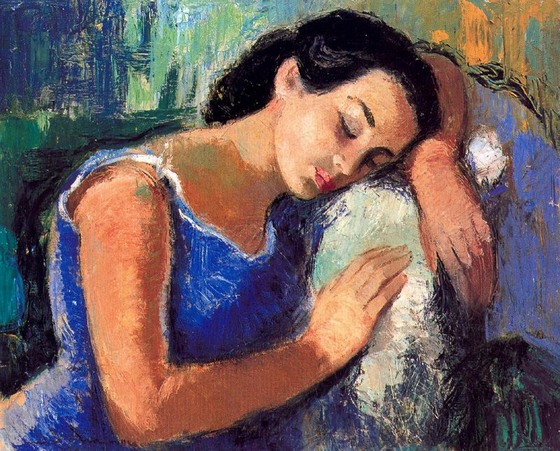 Miro Mayinou. Tired woman