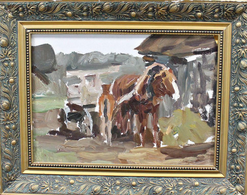 Orest Georgievich Betekhtin. Sketch of a horse in harness