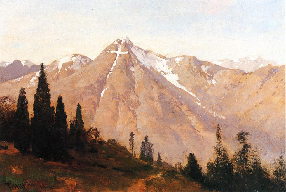 Thomas Hill. The tops of the mountains